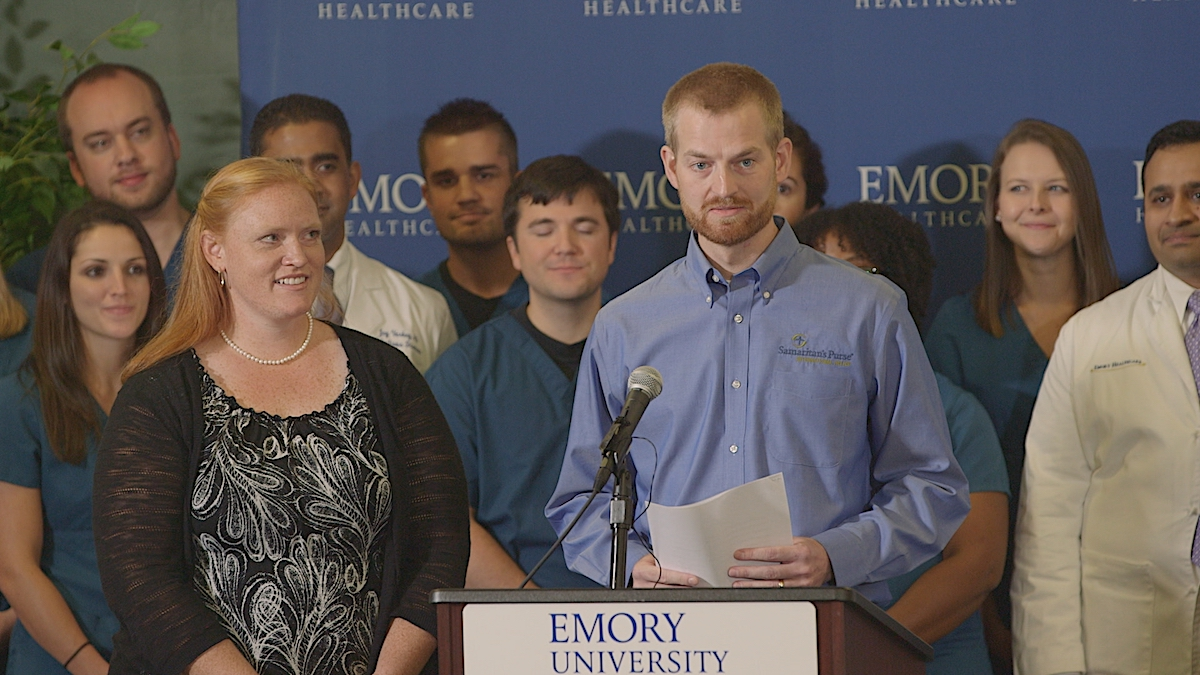 Kent Brantly in the documentary, Facing Darkness.