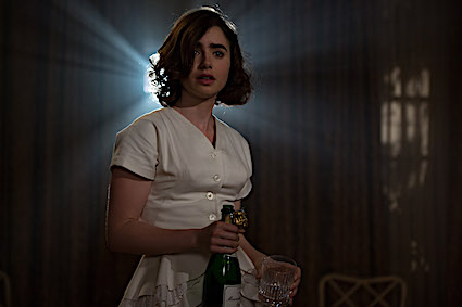 Lily Collins as Marla in Rules Don't Apply