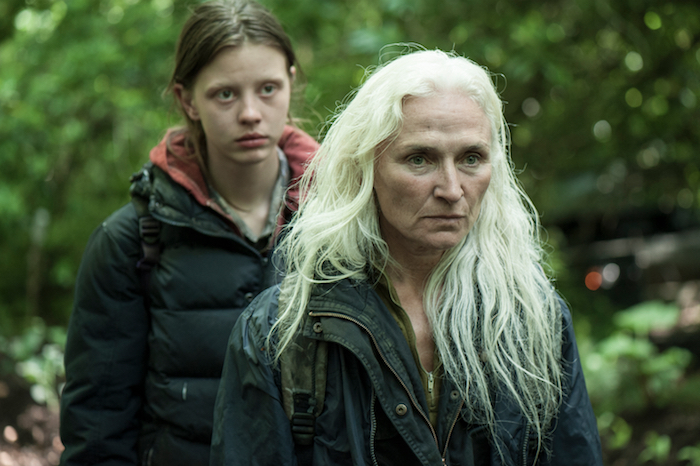 Olwen Fouere and Mia Goth in The Survivalist